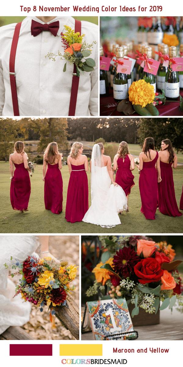 Top 8 November Wedding Color Ideas For 2019 Colorsbridesmaid