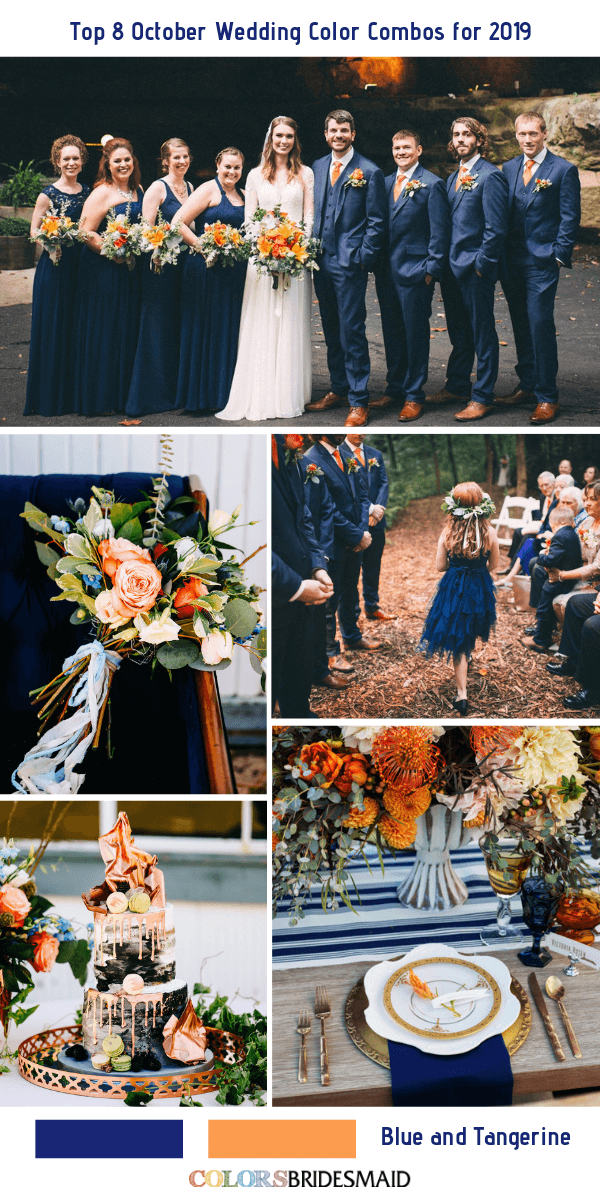 Top 8 October Wedding Color Combos For 2019