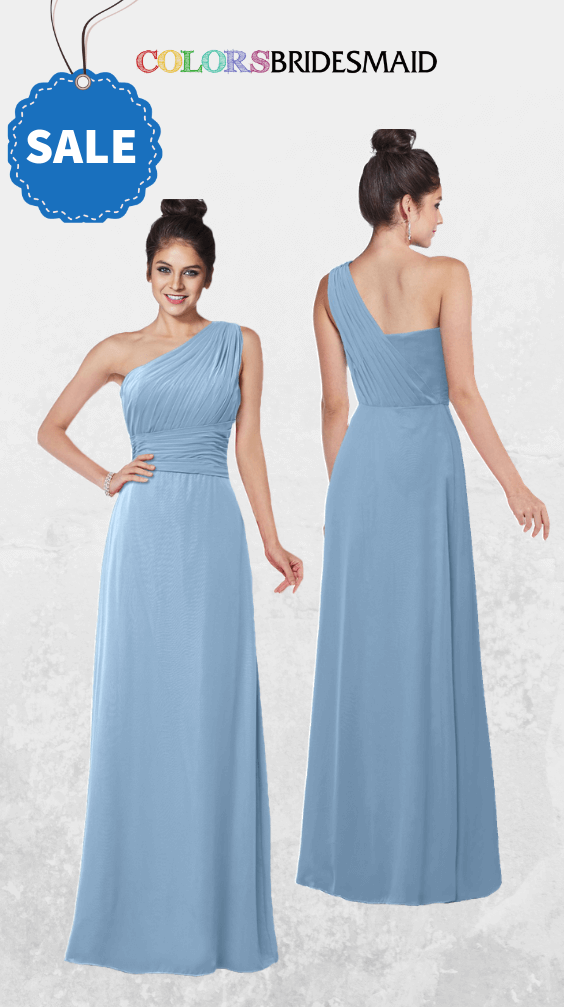 ColsBM Adalyn Dusty Blue Bridesmaid Dresses