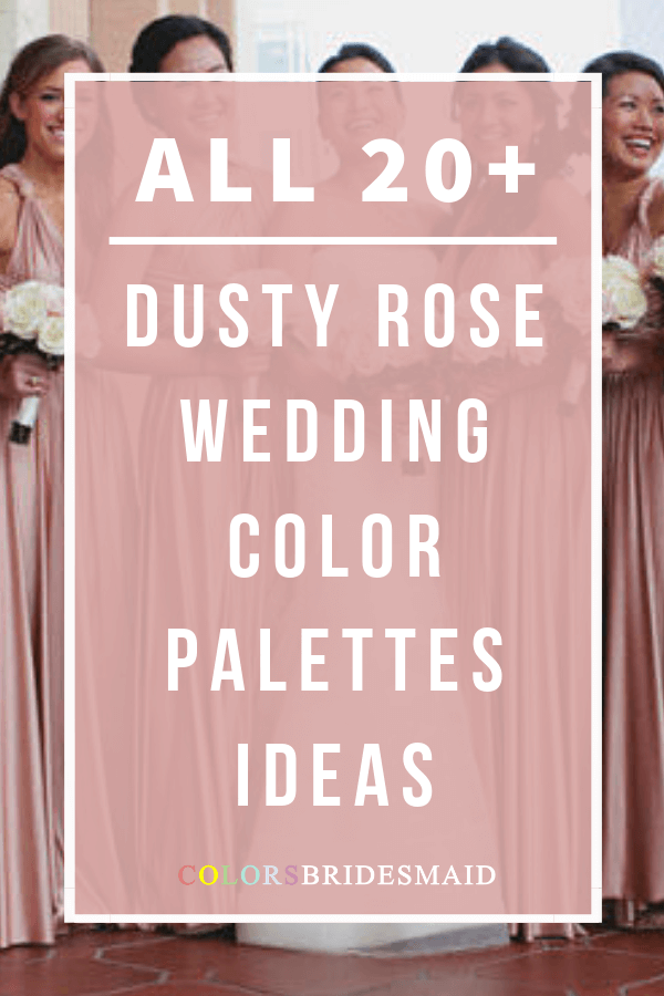 all dusty rose wedding color palettes
