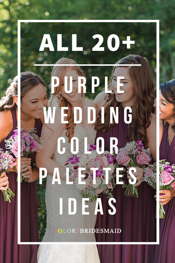 all purple wedding color palettes