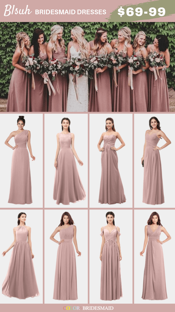 ColsBM blush bridesmaid dresses