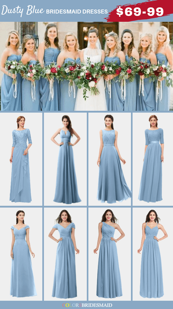 ColsBM dusty blue bridesmaid dresses