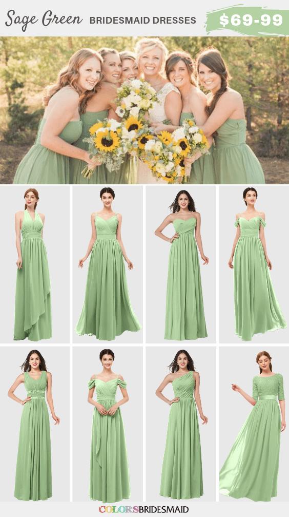 ColsBM Sage green bridesmaid dresses