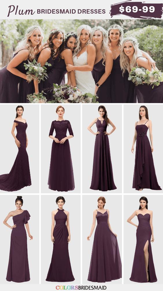 Plum bridesmaid dresses