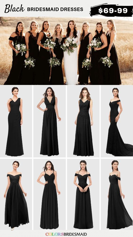 ColsBM Black bridesmaid dresses