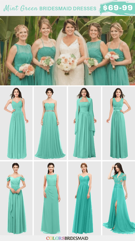 ColsBM mint green bridesmaid dresses