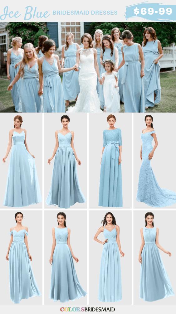 ColsBM ice blue bridesmaid dresses
