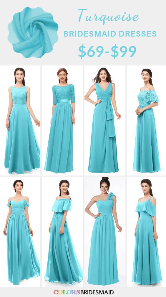 ColsBM turquoise bridesmaid dresses