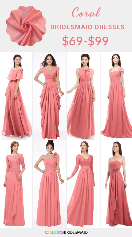 ColsBM coral bridesmaid dresses