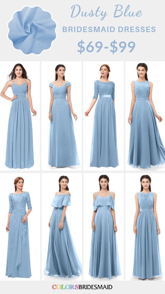 ColsBM dusty blue bridesmaid dresses