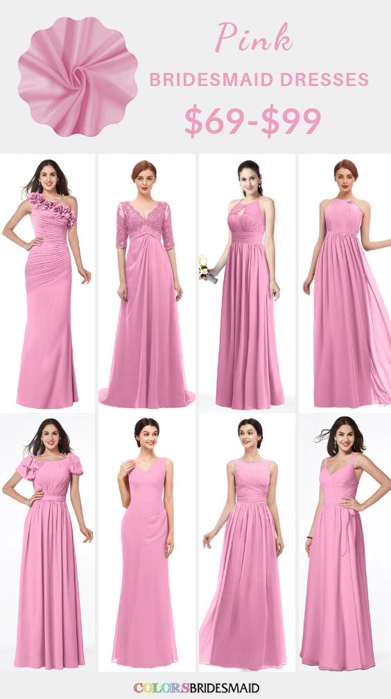 ColsBM pink bridesmaid dresses