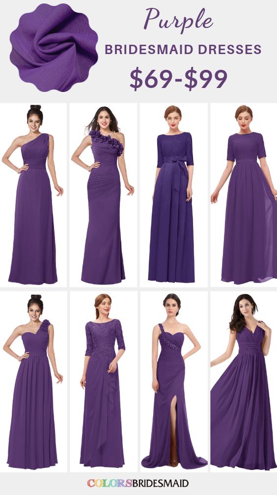 ColsBM purple bridesmaid dresses