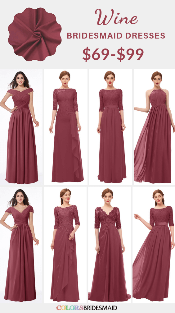 ColsBM bridesmaid dresses in wine color