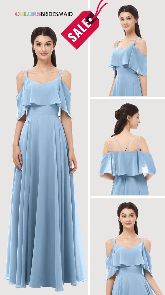 ColsBM Jamie Dusty Blue Bridesmaid Dresses