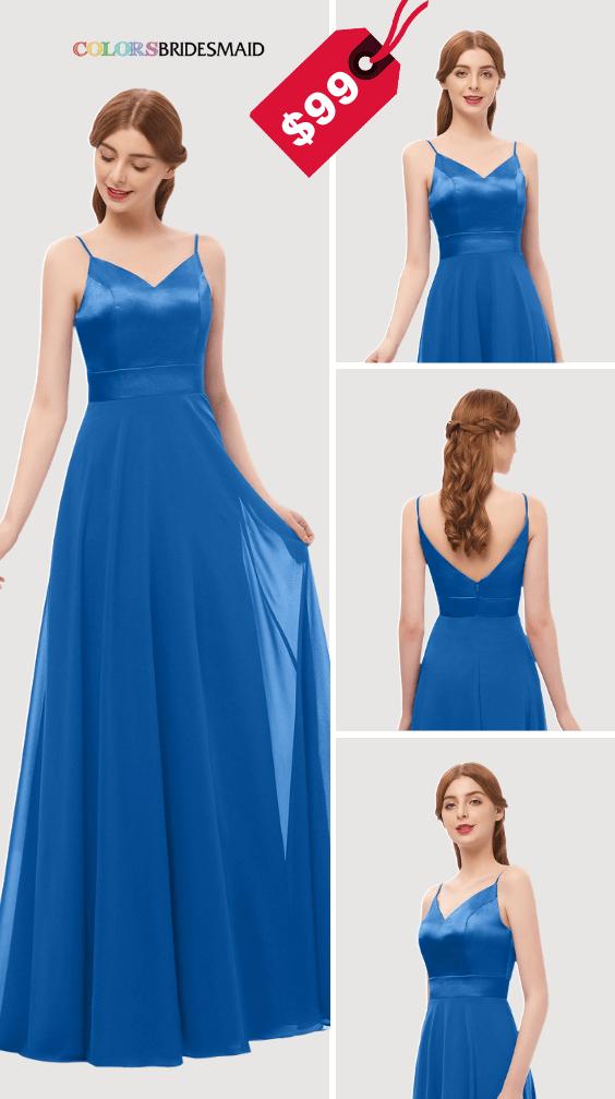 5b362cf5f6 Bright Royal Blue and Metallic Silver Winter Wedding Color Ideas ...