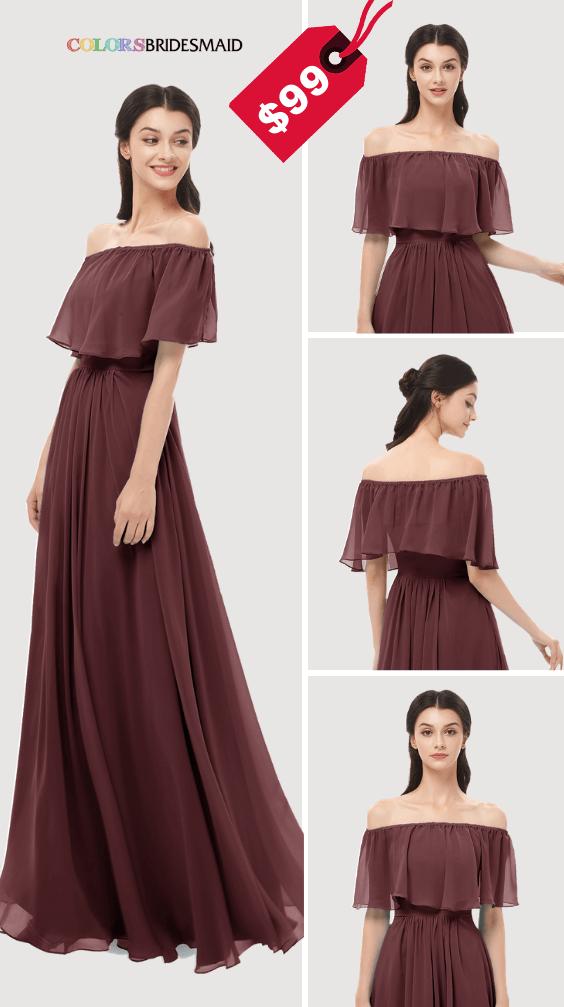ColsBM Hana Burgundy Bridesmaid Dresses