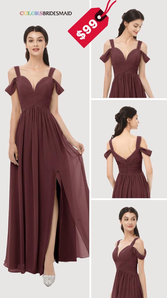 ColsBM Raven Burgundy Bridesmaid Dresses