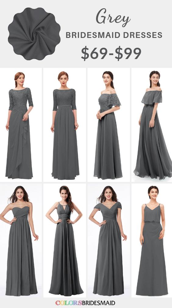 ColsBM grey bridesmaid dresses