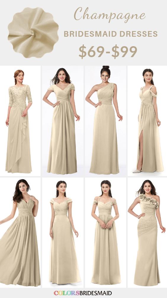 ColsBM Champagne bridesmaid dresses