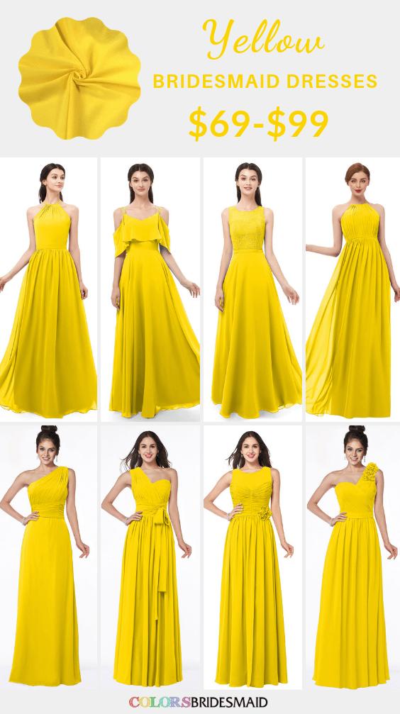 ColsBM yellow bridesmaid dresses