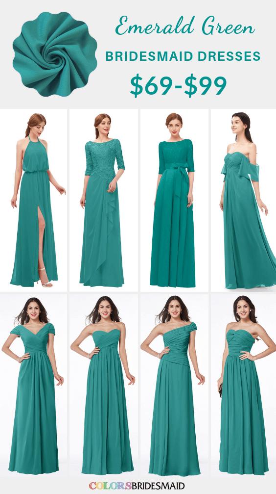 ColsBM emerald green bridesmaid dresses