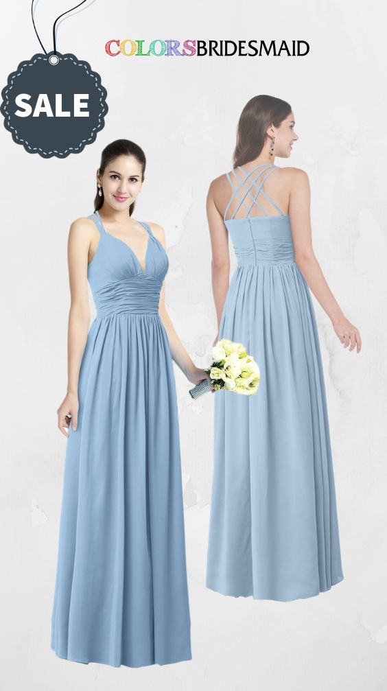 ColsBM Veronica Dusty Blue Bridesmaid Dresses