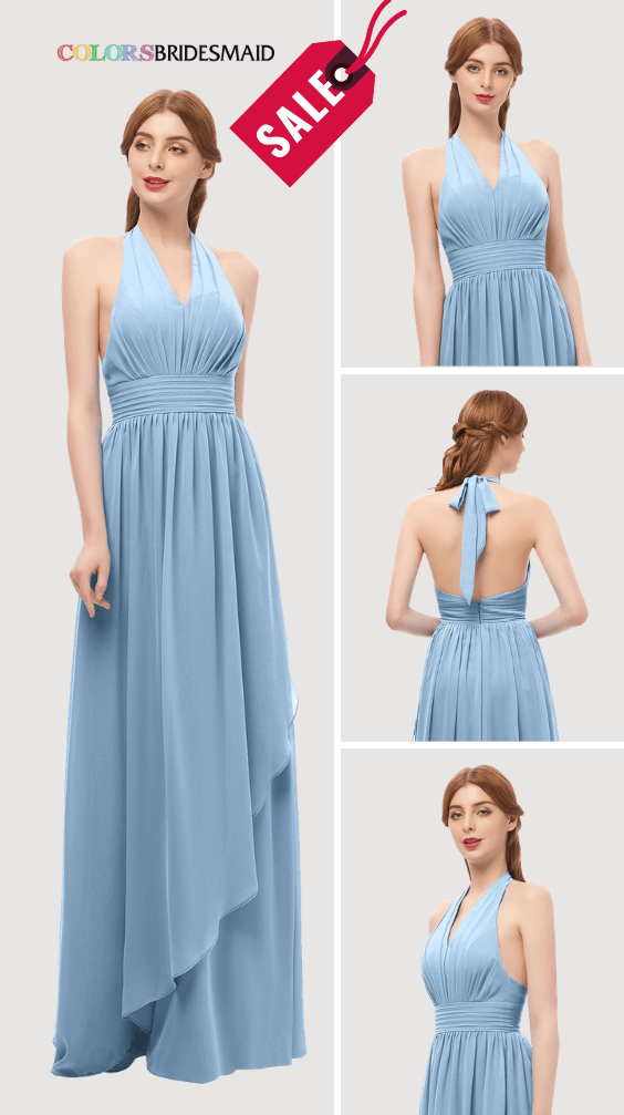 ColsBM Olive Dusty Blue Bridesmaid Dresses