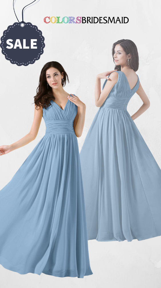 ColsBM Alana Dusty Blue Bridesmaid Dresses