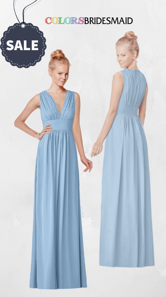 ColsBM Carolyn Dusty Blue Bridesmaid Dresses