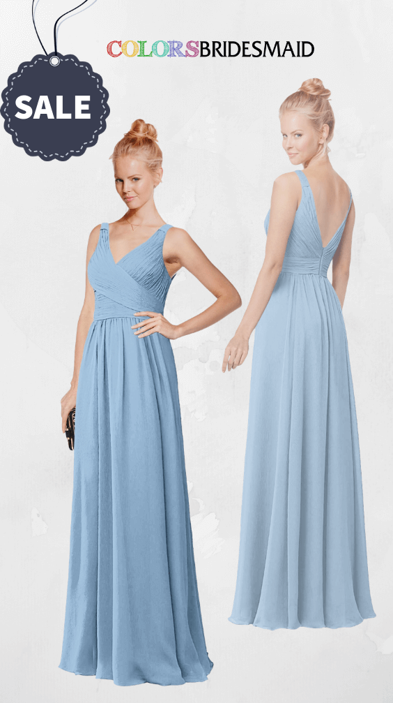 ColsBM Reyna Dusty Blue Bridesmaid Dresses