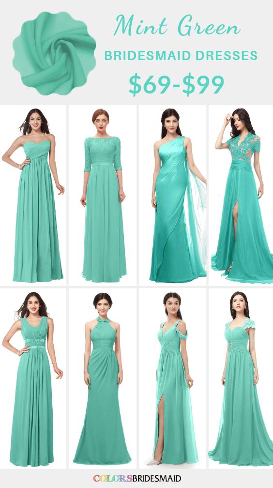 ColsBM mint green bridesmaid dresses
