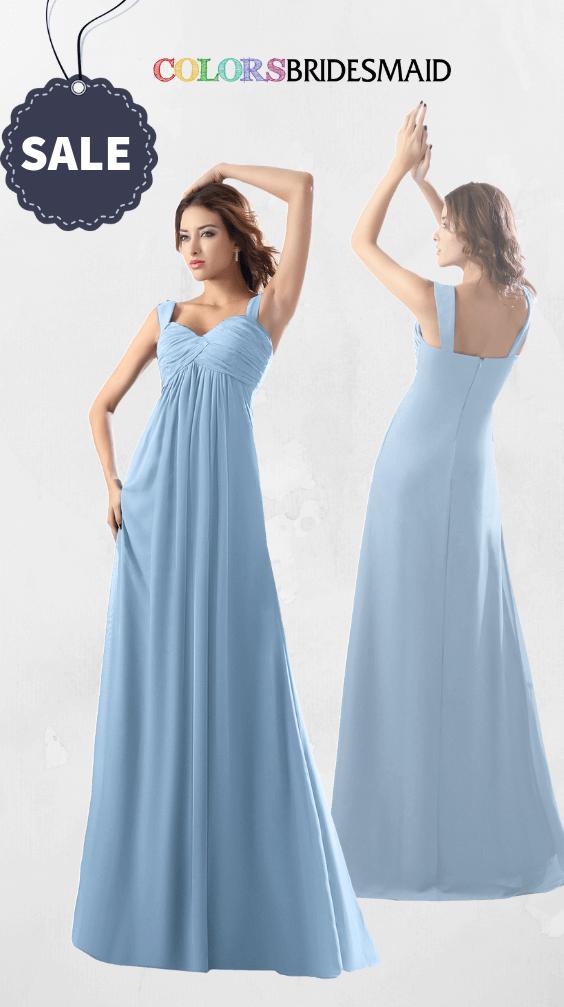 ColsBM Diana Dusty Blue Bridesmaid Dresses