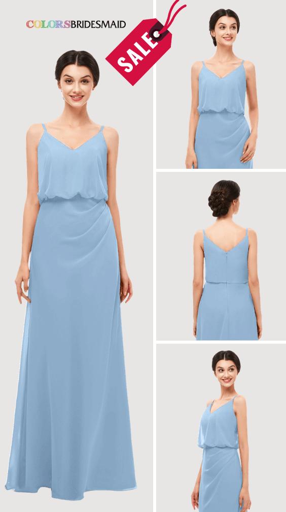 ColsBM Sasha Dusty Blue Bridesmaid Dresses