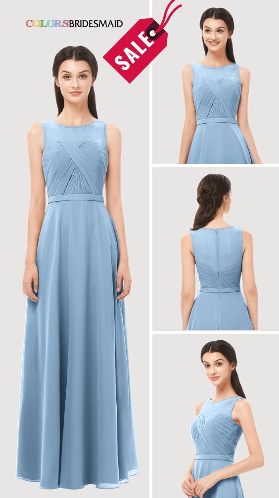 ColsBM Emery Dusty Blue Bridesmaid Dresses