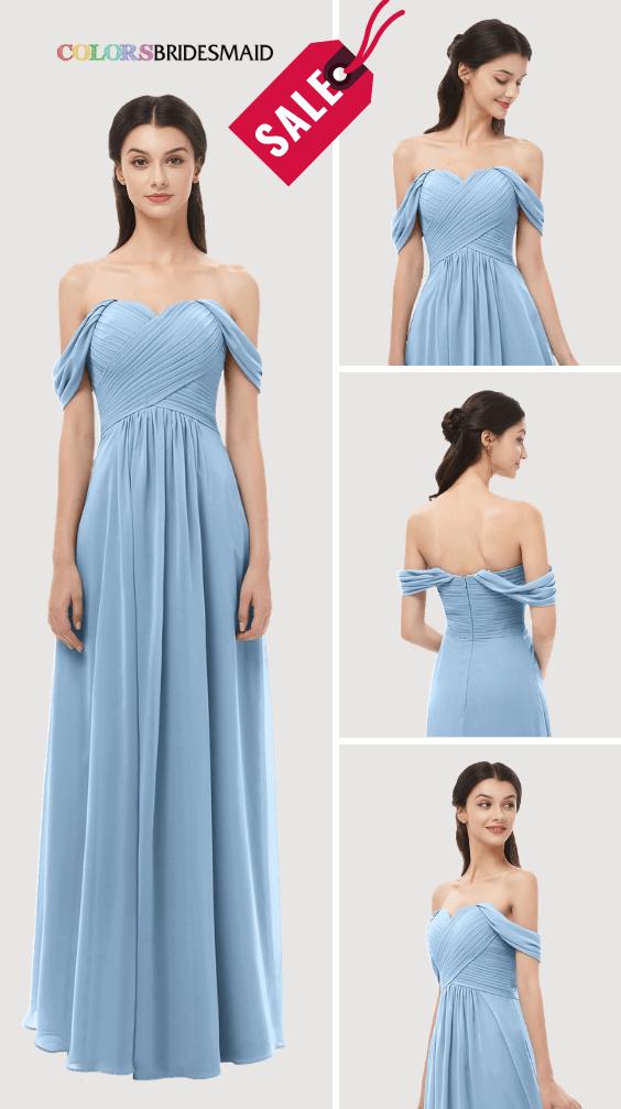 ColsBM Sylvia Dusty Blue Bridesmaid Dresses