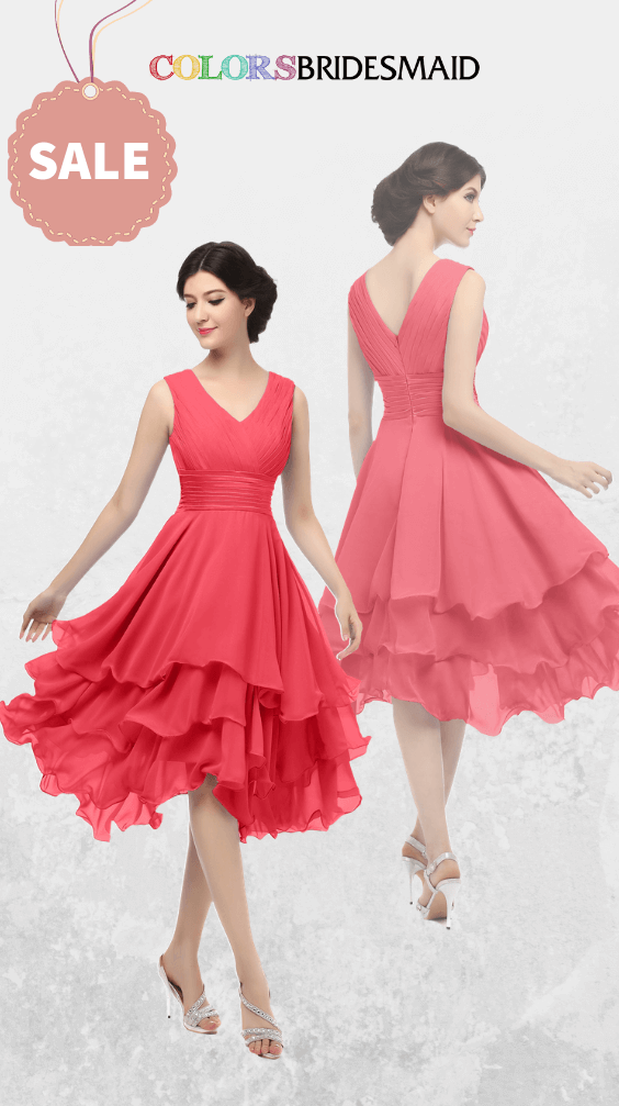ColsBM Grace Coral Bridesmaid Dresses