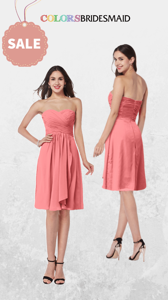 ColsBM Laila Coral Bridesmaid Dresses