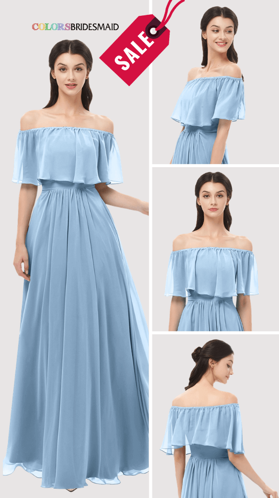 ColsBM Hana Dusty Blue Bridesmaid Dresses