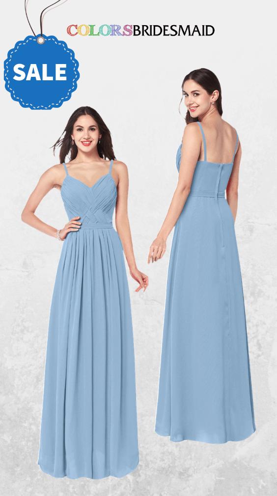 ColsBM Kinley Dusty Blue Bridesmaid Dresses
