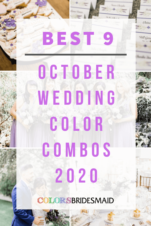 Best October wedding color combos for 2020
