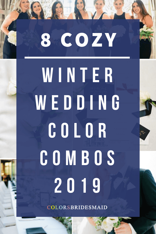 winter wedding color combos for 2019