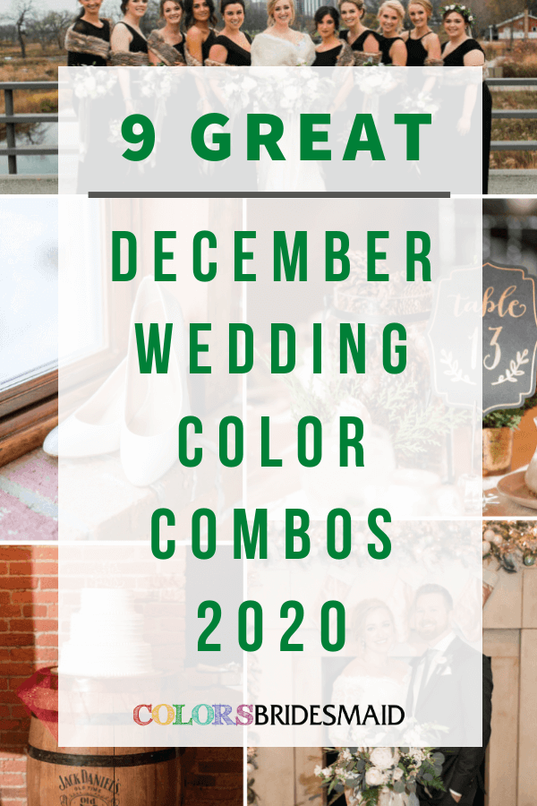 9 Great December Wedding Color Combos for 2020