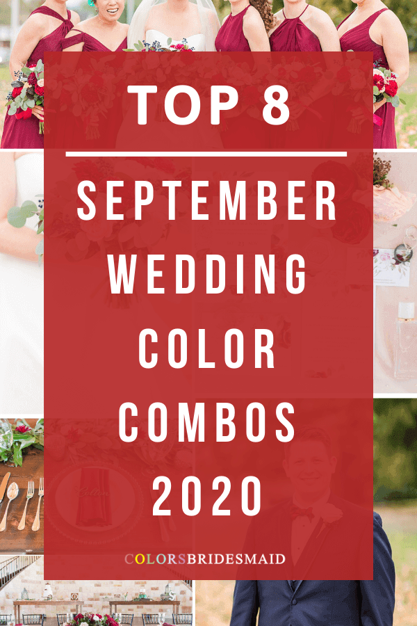 september wedding color palettes for 2020