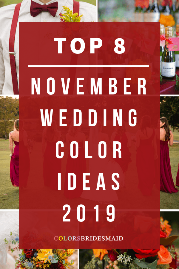November Wedding Color Ideas for 2019