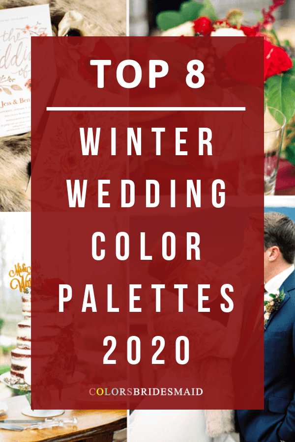 winter wedding color palettes for 2020