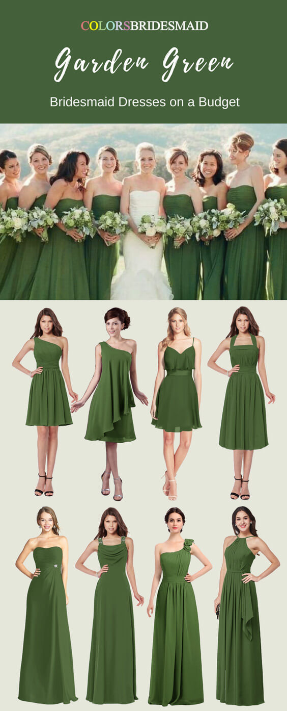 Romantic and Charming Garden Green Bridesmaid Dresses