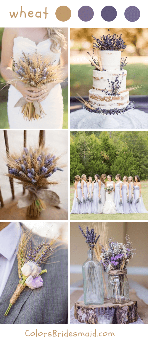 Rustic wheat fall wedding ideas and colors