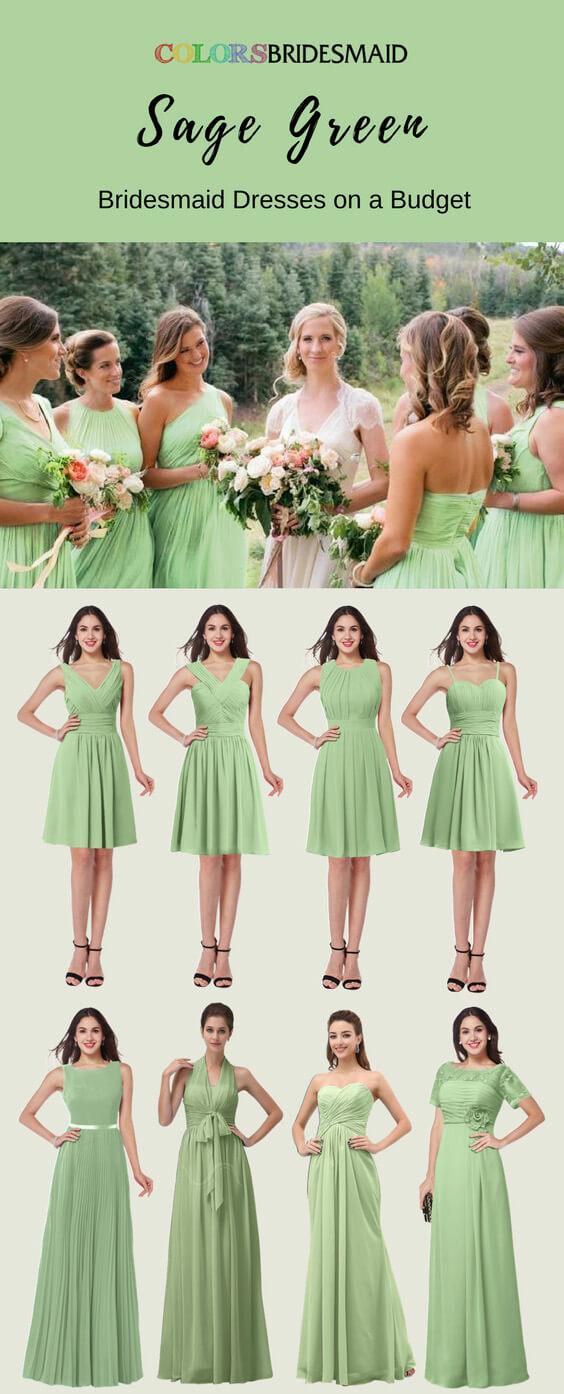 Sage Green Bridesmaid Dresses On A Budget