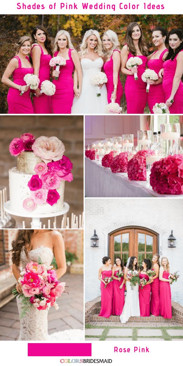9 Prettiest Shades Of Pink Wedding Color Ideas Colorsbridesmaid